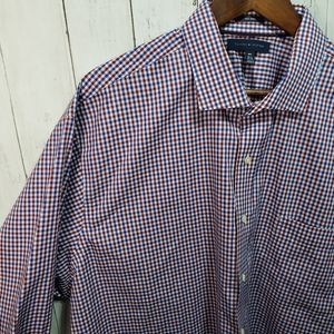 New! Tommy Hilfiger Blue Red Big & Tall Button Up